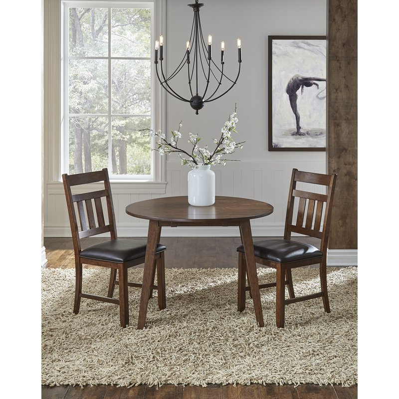 Drop Leaf Extendable Dining Tables Inside Most Up To Date Trent Austin Design Caracara Round Dropleaf Extendable Dining Table (View 5 of 20)