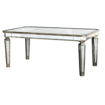 Dt 1007, China Antique Silver Mirrored Dining Table, Dining Room Pertaining To Most Popular Antique Mirror Dining Tables (View 7 of 20)