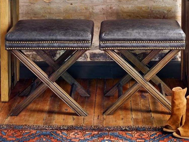 Durango Smoke & Warm Cedar Dining Chairs Regarding Famous Four Hands Ashford Durango Smoke Elyse Ottoman (View 1 of 20)