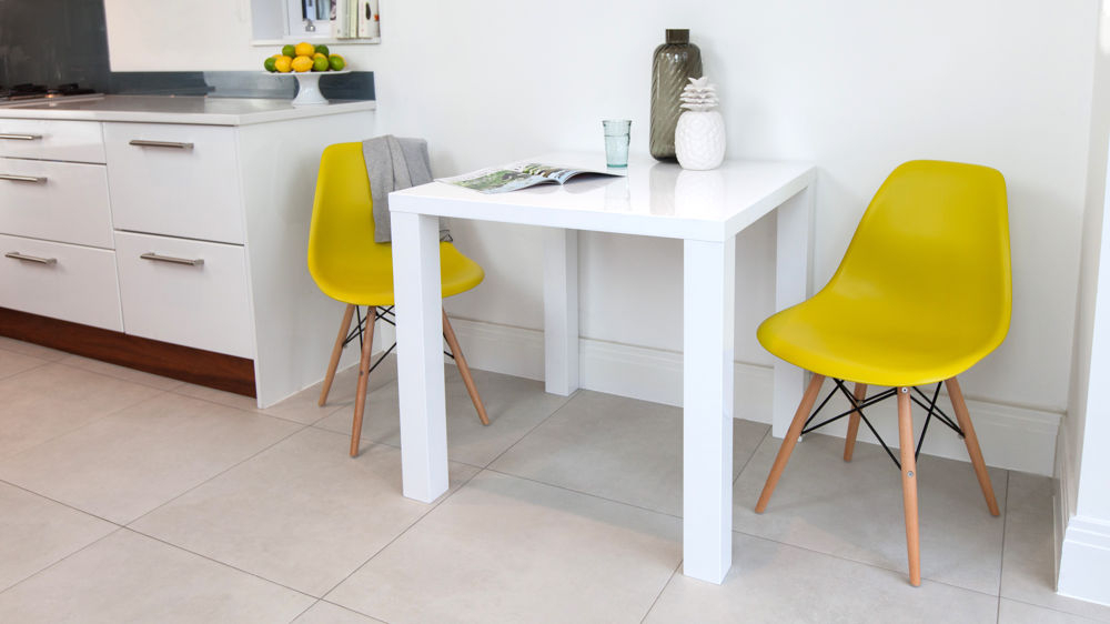 Eames Dining Set Eames Replica White Gloss Kitchen Table White Wood With Most Recent Small White Dining Tables (View 13 of 20)