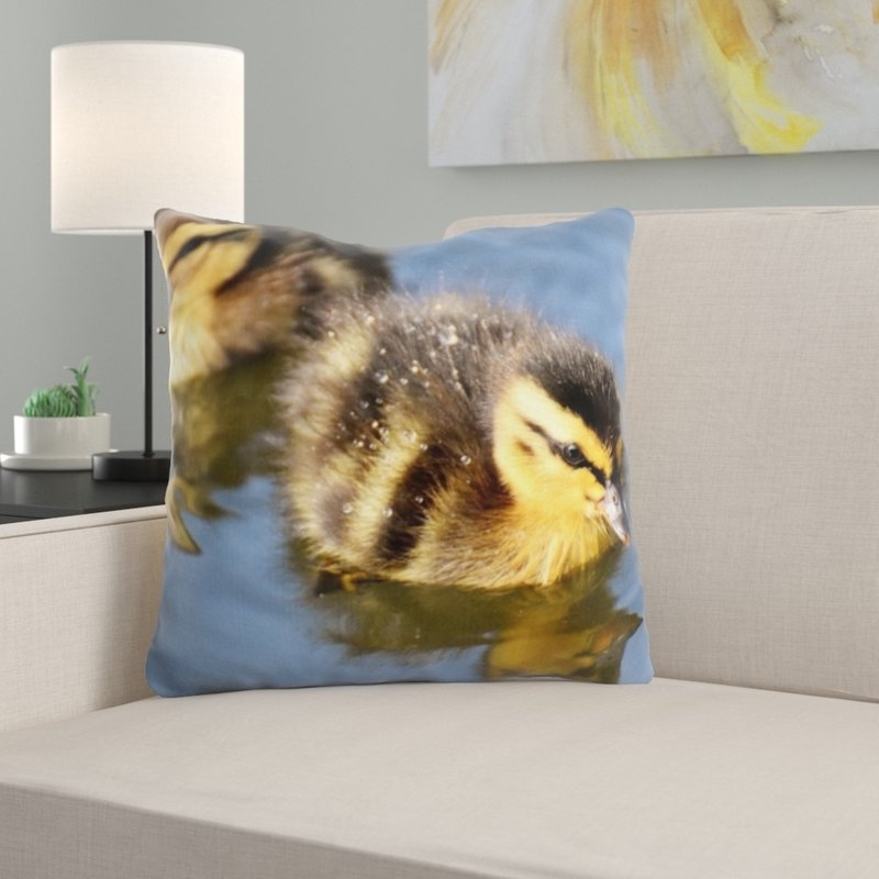 East Urban Home Mallard Throw Pillow (Gallery 11 of 20)