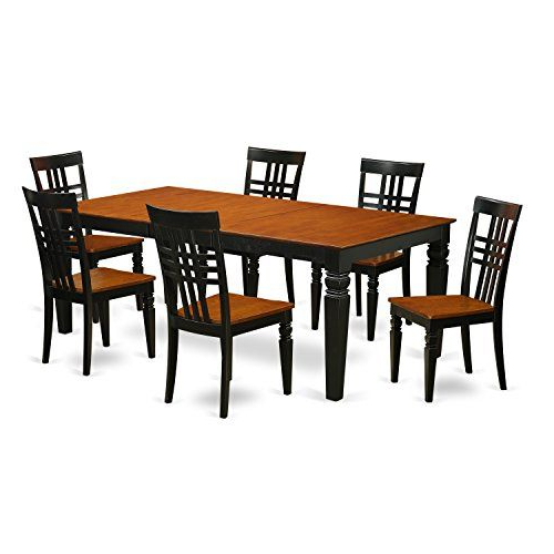 East West Furniture Lglg7 Bch W 7piece Table & Chair Set With One Inside Widely Used Logan 7 Piece Dining Sets (View 5 of 20)