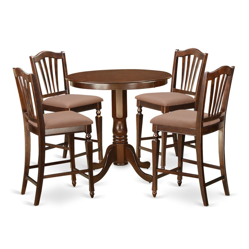 East West Jackson 5 Piece Counter Height Pub Table Set (Gallery 9 of 20)