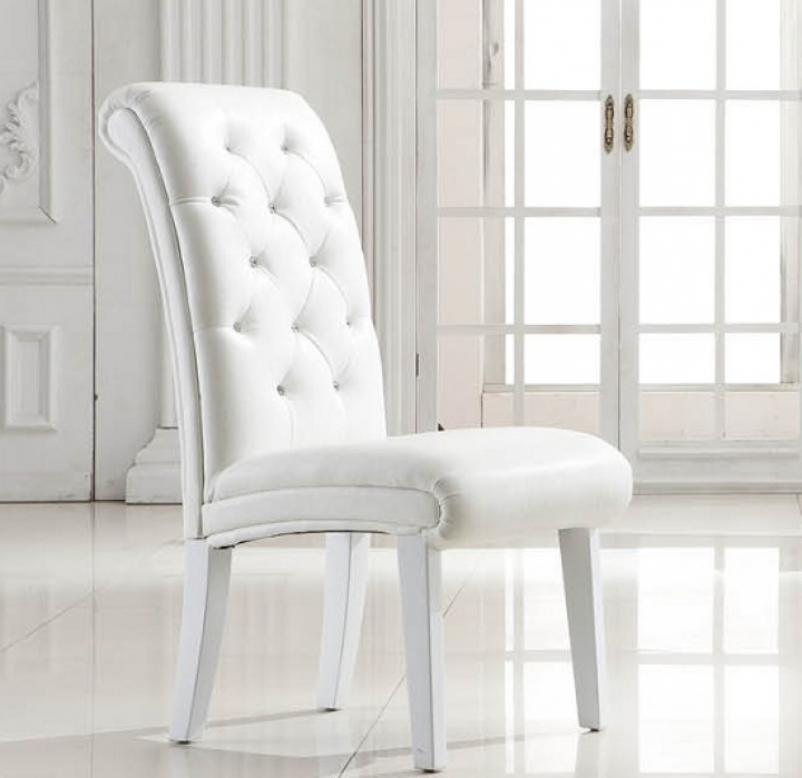 Easy White Leather Dining Chairs : Tips For Reupholstering Leather Pertaining To Popular White Leather Dining Chairs (Gallery 8 of 20)