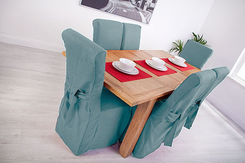Ebay Dining Chairs In Well Known Set Of 4 Duckegg Fabric Dining Chair Covers For Scroll Top High Back (Gallery 8 of 20)
