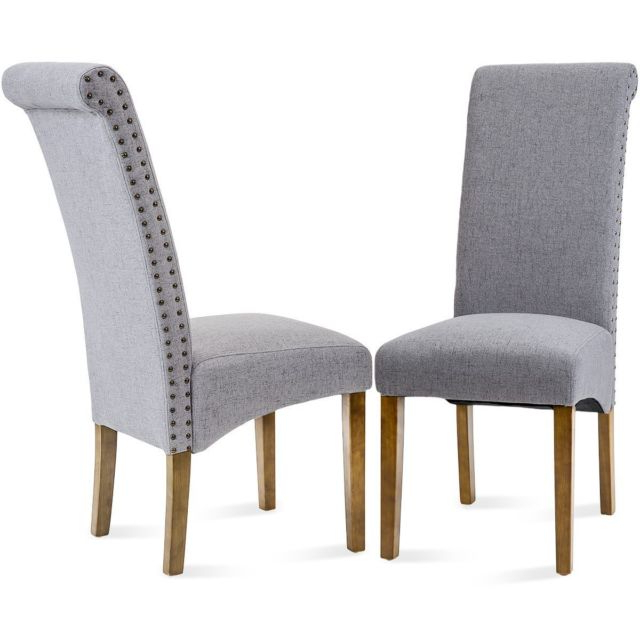 Ebay Dining Chairs Inside Most Up To Date Merax Dining Chairs Set Of 2 Fabric Padded Side Chair With Solid (Gallery 17 of 20)