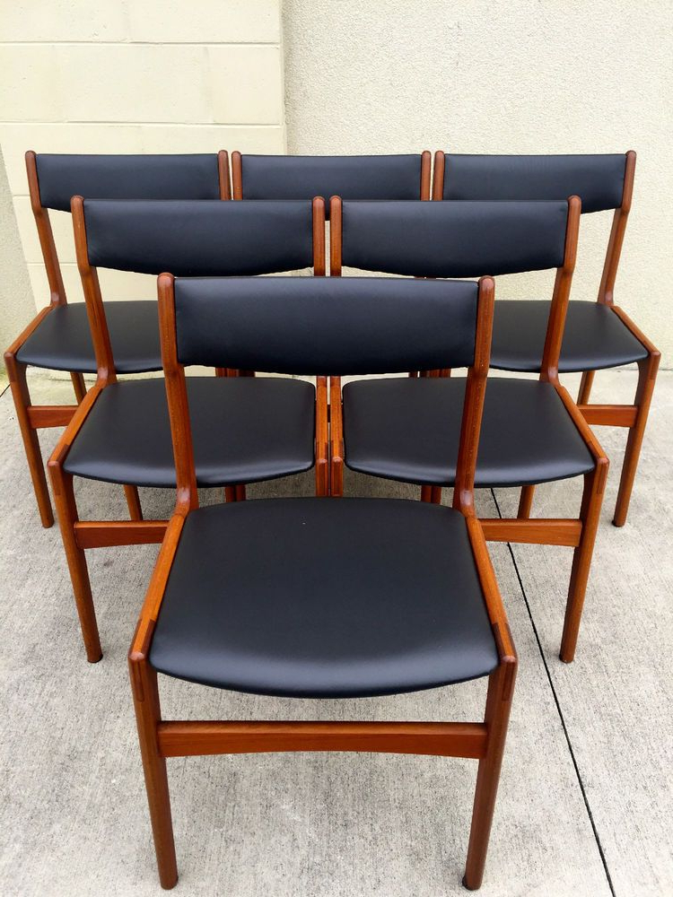 Ebay Dining Chairs With Regard To Newest Set Of Six Midcentury Danish Modern Dining Chairs (View 14 of 20)
