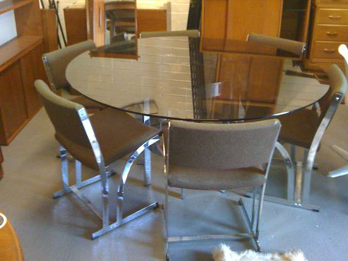 Ebay Dining Room Tables – Dining Table Furniture Design Throughout Fashionable Retro Glass Dining Tables And Chairs (Gallery 10 of 20)