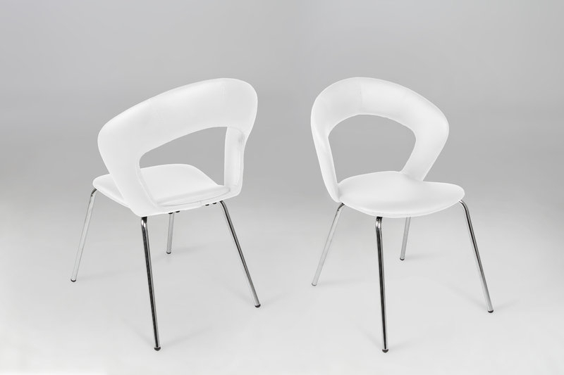 Edna Leather Look White Dining Chair – Homestreet Furniture, Gifts For Latest White Dining Chairs (View 8 of 20)