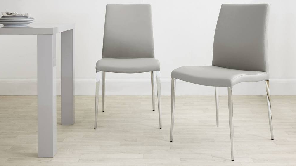 Elise Chair With Grey Leather Dining Chairs (View 2 of 20)