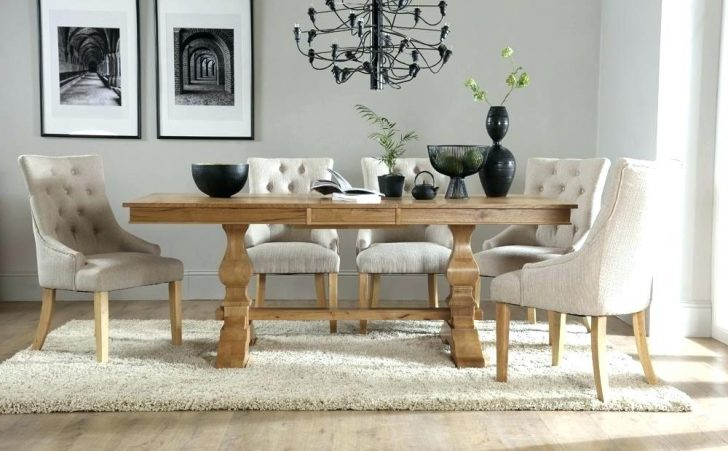 Enchanting Oak Dining Table And 8 Chairs Rustic Dark Light Round For With Famous Oak Dining Tables 8 Chairs (Gallery 9 of 20)
