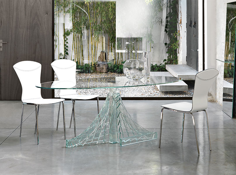 Enhance Your Kitchen With Some Best Glass Dining Room Sets Within Well Liked Glass Dining Tables White Chairs (View 4 of 20)