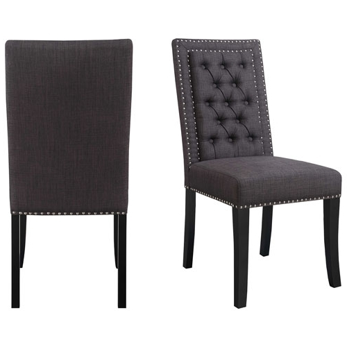 Eric Contemporary Polyester Dining Chair – Set Of 2 – Charcoal For Famous Charcoal Dining Chairs (View 8 of 20)