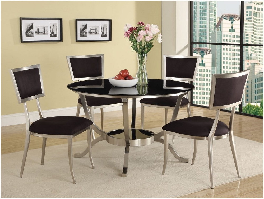 Ericamchristensen Regarding Most Recent Round Black Glass Dining Tables And Chairs (View 5 of 20)