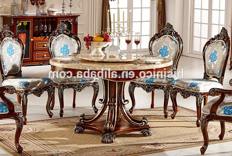 European Style Luxury Dining Set,round Dining Table And Chairs,royal In Most Current Royal Dining Tables (View 2 of 20)