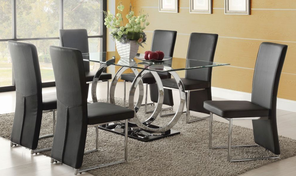 Exclusive Olympia Glass Dining Table With 6 Chairs (Gallery 1 of 20)