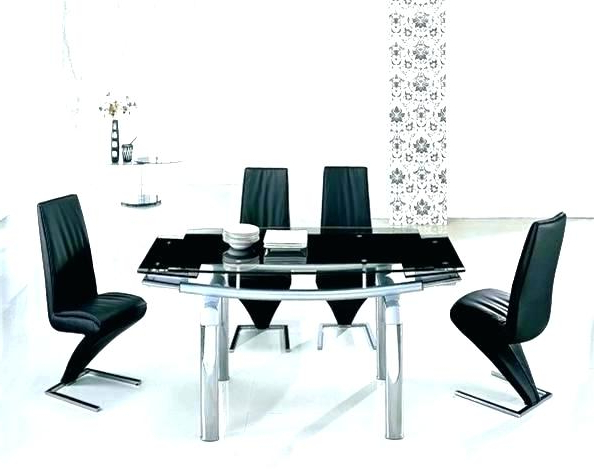Exotic Glass Dining Sets 6 Chairs Glass Extendable Dining Table With Regard To Most Current Glass Extendable Dining Tables And 6 Chairs (View 7 of 20)