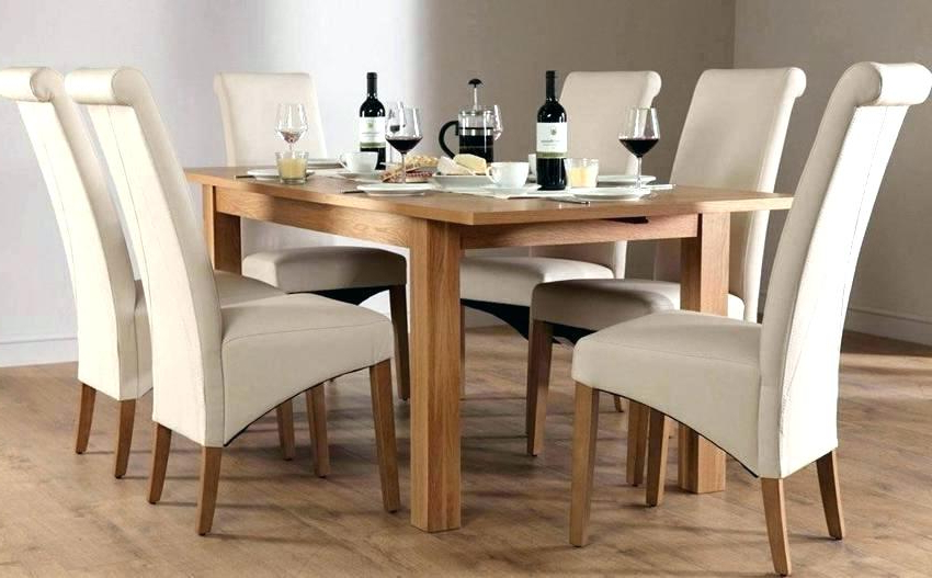 Extendable Dining Tables 6 Chairs Throughout Most Recently Released Round Extending Dining Table Sets Solid Wood And 6 Chairs Ebay (Gallery 14 of 20)