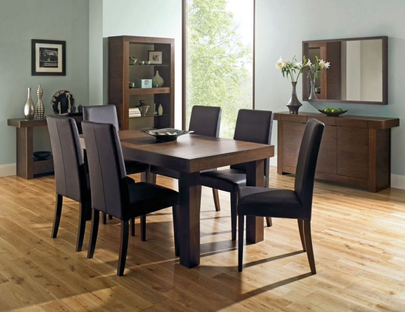 Extendable Dining Tables And Chairs Regarding Most Recent Buy Bentley Designs Akita Walnut Rectangular Extending Dining Table (View 17 of 20)