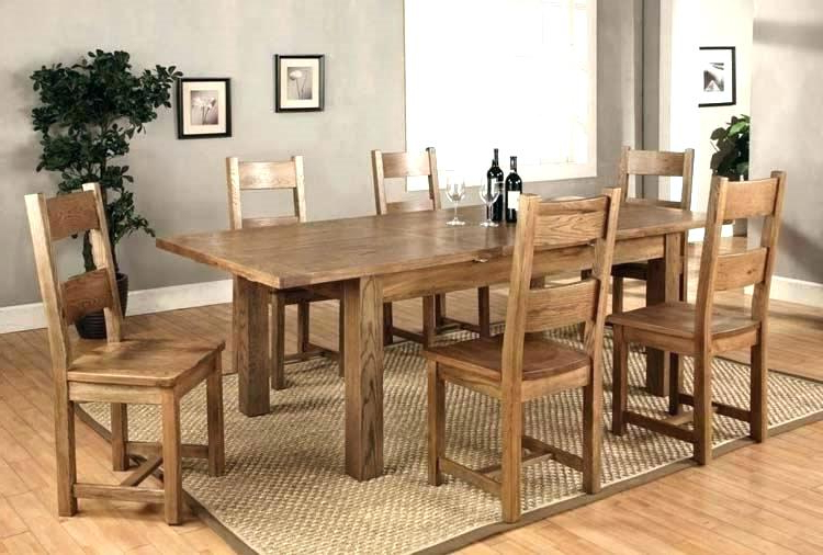 Extendable Dining Tables With 6 Chairs Inside 2018 Dining Room 6 Chairs Round Table That Seats 6 Black Extendable (View 20 of 20)