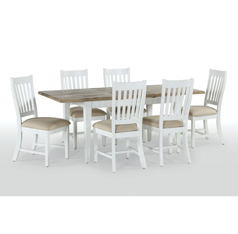 Extendable Dining Tables With 6 Chairs Inside Popular Breakwater Bay Bellemoor Extendable Dining Table With 6 Chairs (View 8 of 20)