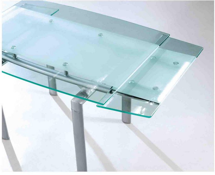 Extendable Glass Dining Table Cd605 – Buy Dining Table,glass Dining Regarding Most Popular Extendable Glass Dining Tables (View 5 of 20)