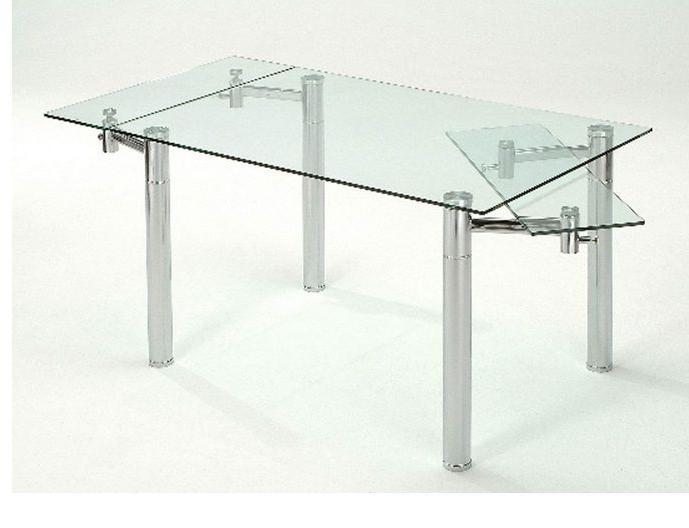 Extendable Glass Dining Tables For Recent Furniture Dining Room Furniture Glass Table Extendable Glass Table (View 6 of 20)