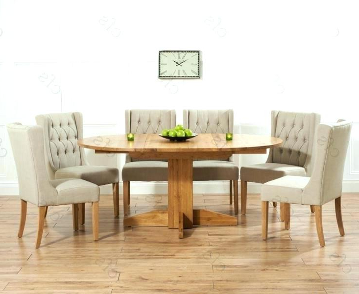 Extendable Round Dining Tables Sets Inside 2018 Round Dining Table For 6 White Dining Table Chairs Dining Tables  (View 4 of 20)
