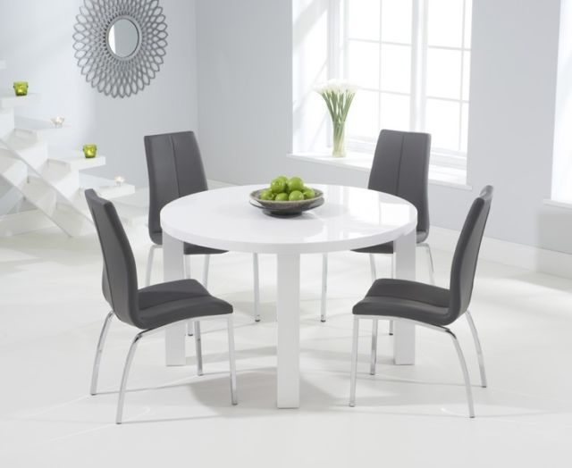 Extendable Round Dining Tables Sets Pertaining To Well Known Somerset Painted Furniture Grey & Oak Extending Dining Table Set (Gallery 5 of 20)