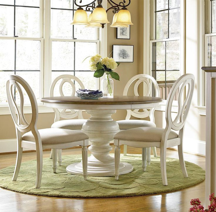 Extendable Round Dining Tables Sets With Regard To Preferred Dining Tables: Glamorous White Dining Table Sets White Round Kitchen (View 6 of 20)