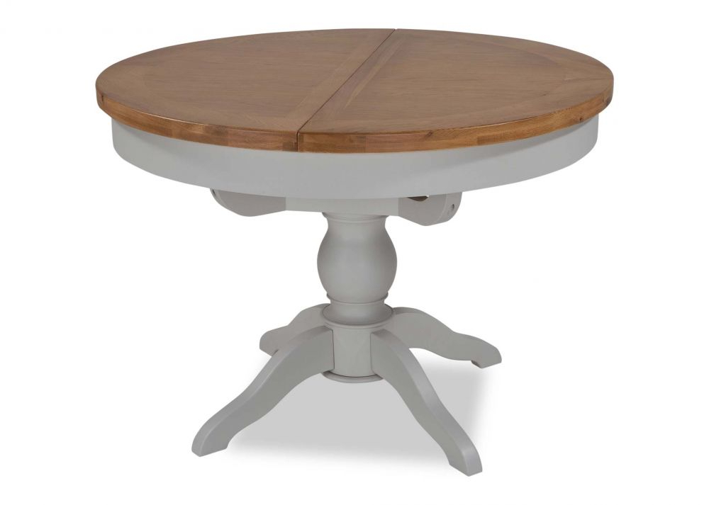Extendable Round Dining Tables Within 2018 Oak Extendable Round Dining Table – Hudson – Ez Living Furniture (View 8 of 20)
