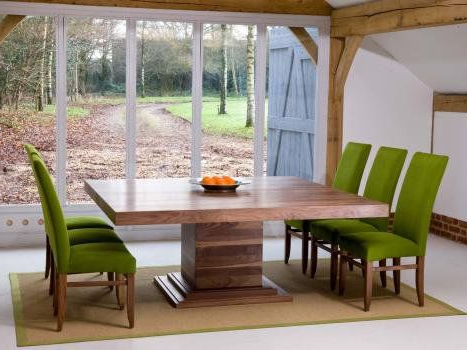 Extendable Square Dining Tables With Most Recently Released Square Dining Tables In Oak Or Walnut With Extending Flaps (View 5 of 20)