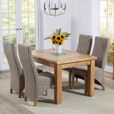 Extending Dining Room Tables And Chairs With Regard To Current Yorkshire Solid Oak Extending Dining Table With 6 Henry Tweed Chairs (View 11 of 20)