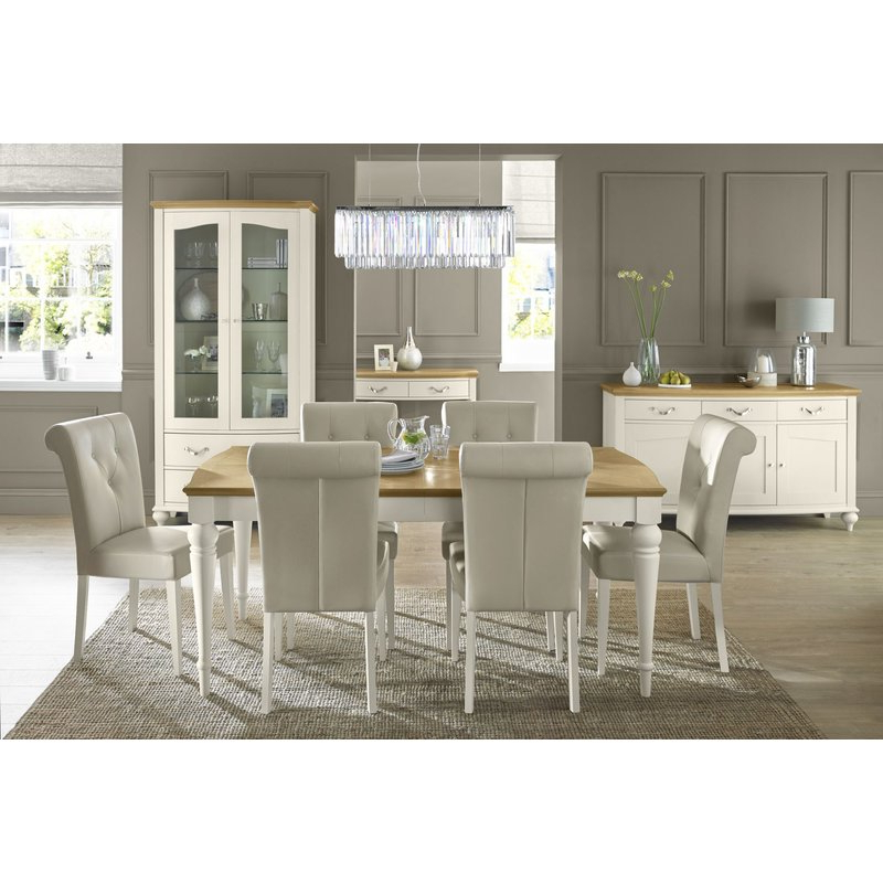 Extending Dining Sets Within Popular Rosecliff Heights Acklins Extendable Dining Set With 6 Chairs (Gallery 17 of 20)