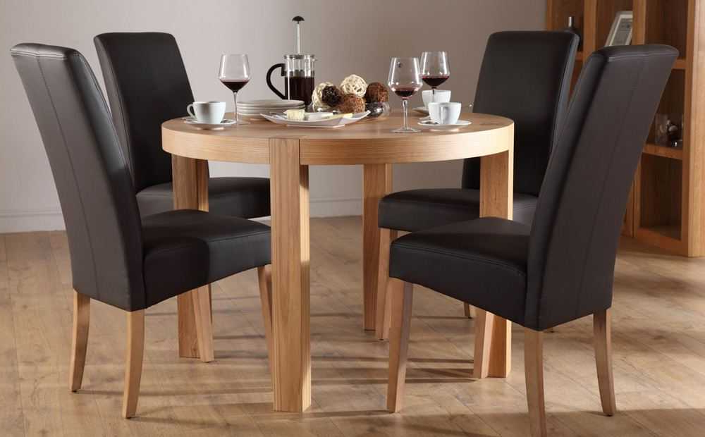 Extending Dining Table And 4 Chairs Small Kitchen Folding Pertaining To Fashionable Small Round Dining Table With 4 Chairs (View 12 of 20)