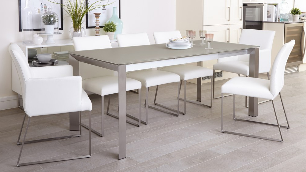 Extending Dining Table Uk Pertaining To Smoked Glass Dining Tables And Chairs (View 4 of 20)