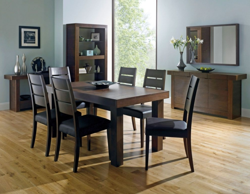Extending Dining Tables And 6 Chairs In Popular Buy Bentley Designs Akita Walnut Rectangular Extending Dining Table (Gallery 13 of 20)
