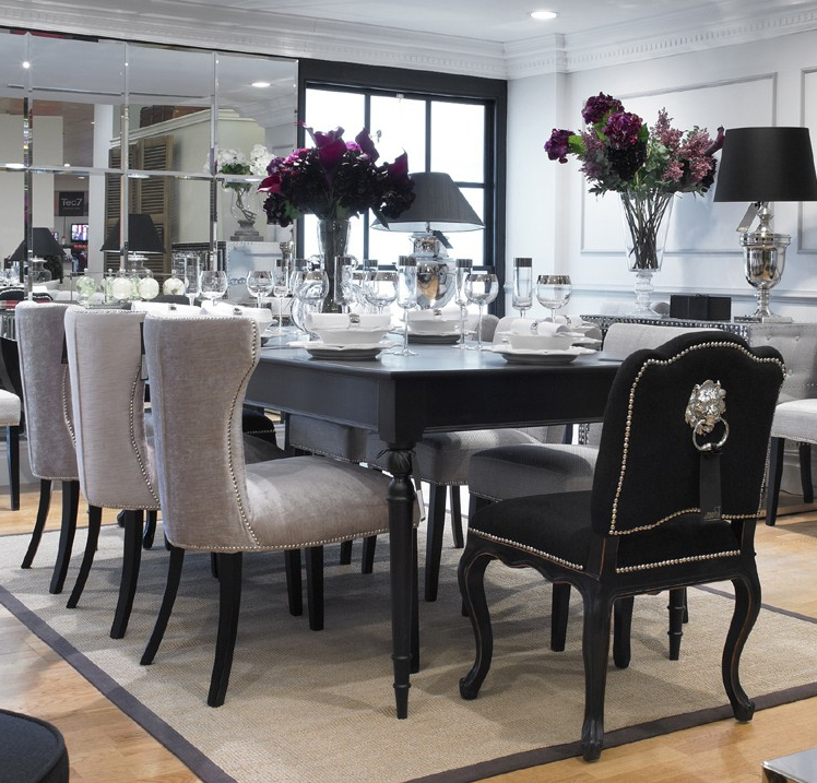 Extending Dining Tables And 8 Chairs Regarding Most Current Extending Black Dining Table U0026 8 Chairs Special Offer Stzshes (View 4 of 20)