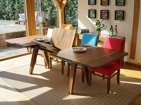 Extending Dining Tables In Solid Oak / Walnut, Contemporary Tables With Regard To Best And Newest Extending Solid Oak Dining Tables (Gallery 4 of 20)
