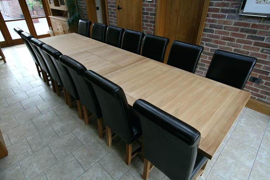 Extending Dining Tables With 14 Seats Regarding Favorite Dining Table For 14 Dining Room Large Dining Tables To Seat (Gallery 4 of 20)