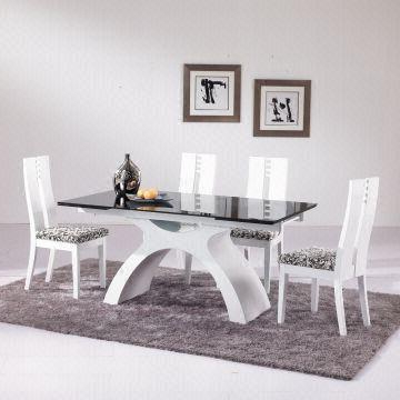 Extending Glass Dining Tables And 8 Chairs For Widely Used 8 Seater Extendable Glass Dinner Table Set Glass Table Top, Wood (View 3 of 20)