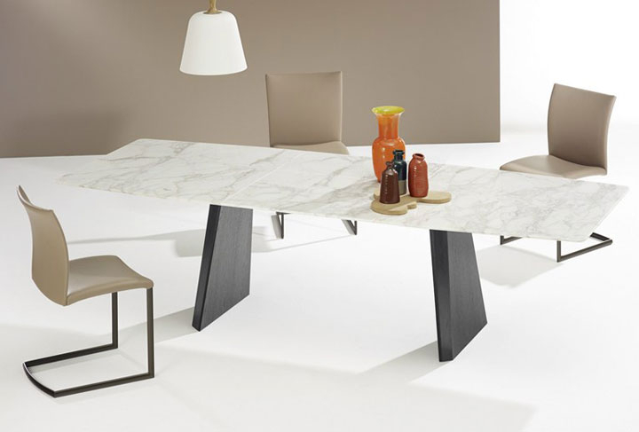 Extending Marble Dining Tables Inside Latest 22 Extendable Dining Tables – Vurni (View 4 of 20)