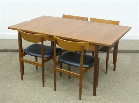 Extending Rectangular Dining Tables Inside Most Popular G Plan Rectangular Teak Vintage/retro Extending Dining Table With (View 19 of 20)