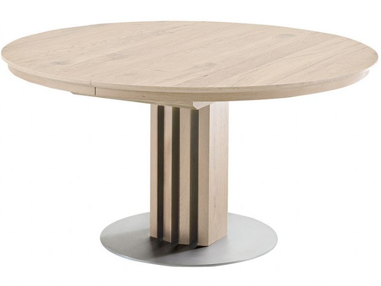 Extending Round Dining Tables With Most Up To Date Venjakob Alfio 120Cm Round Extending Dining Table – Lee Longlands (Gallery 2 of 20)