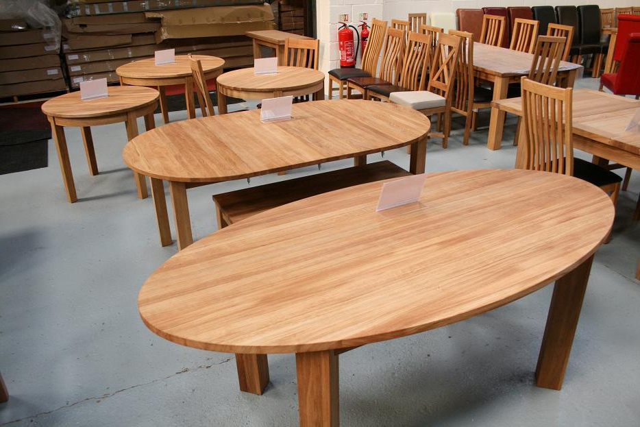 Extending Round Oval Dining Table (Gallery 7 of 20)