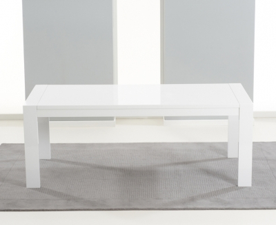 Extending White Gloss Dining Tables Pertaining To Best And Newest Buy Mark Harris Venice White High Gloss Dining Table – 200Cm (View 6 of 20)