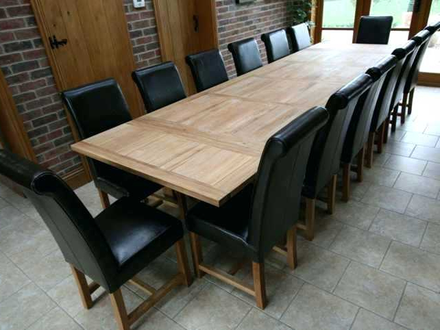Extra Large Dining Table Seats 14 Long Uk Super Room Kitchen Likable Within Widely Used Extending Dining Tables With 14 Seats (View 11 of 20)