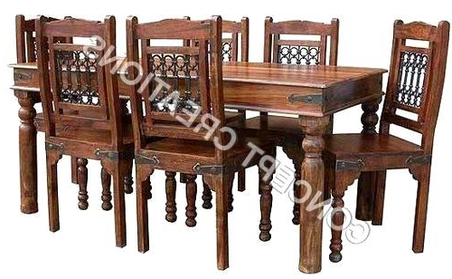 Extraordinary Indian Wood Dining Table Indian Wooden Dining Table With Regard To Most Current Indian Wood Dining Tables (View 4 of 20)