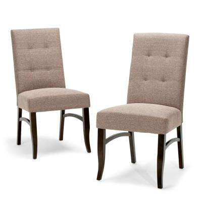 Fabric Covered Dining Chairs In Fashionable Upholstery – Brown – Parsons Chair – Dining Chairs – Kitchen (Gallery 11 of 20)