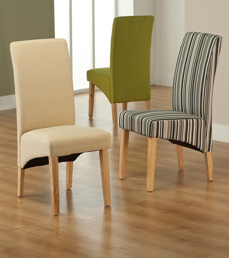 Fabric Dining Chairs For Fashionable Fabric Dining Chairs Strip : Cozy And Stylish Fabric Dining Chairs (Gallery 19 of 20)